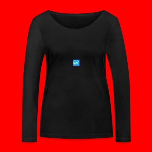 pd Blue V2 - Økologisk Stanley & Stella langærmet T-shirt til damer