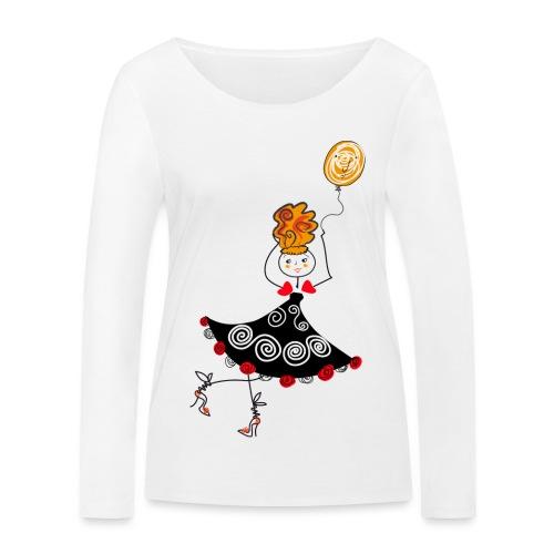Ballerina con palloncino - Maglietta a manica lunga ecologica da donna di Stanley & Stella