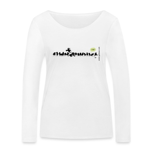 Corvids - det er en mengde! - Økologisk langermet T-skjorte for kvinner fra Stanley & Stella