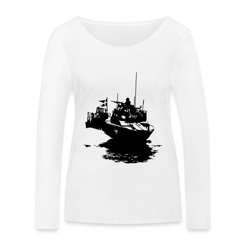 Combat Boat 90 - Stridsbåt 90 - Ekologisk långärmad T-shirt dam från Stanley & Stella