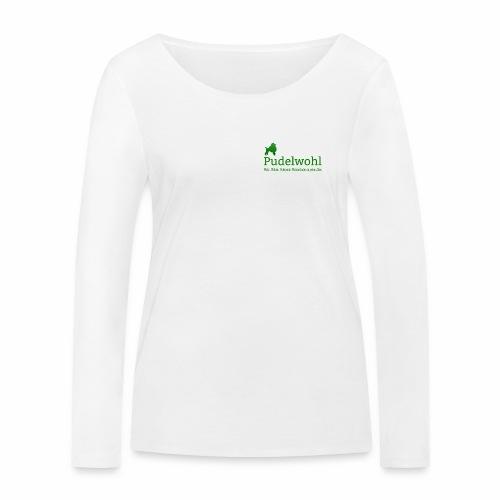 Pudelwohllogo grün - Frauen Bio-Langarmshirt von Stanley & Stella