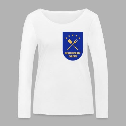 EU Bratenschutz-Experte Dienstabzeichen (blau) - Frauen Bio-Langarmshirt von Stanley & Stella