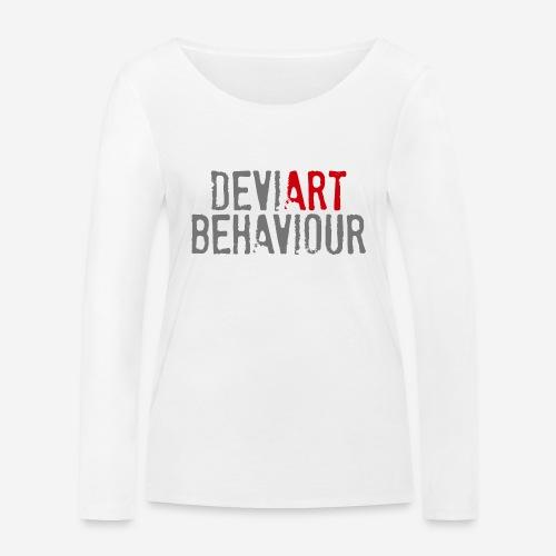 Verhalten von Kunstkünstlern - Frauen Bio-Langarmshirt von Stanley & Stella