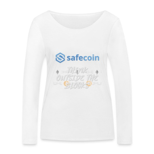 SafeCoin; Think Outside the Blocks (blue + white) - Women's Organic Longsleeve Shirt by Stanley & Stella