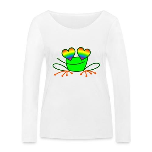Pride Frog in Love - Women's Organic Longsleeve Shirt by Stanley & Stella