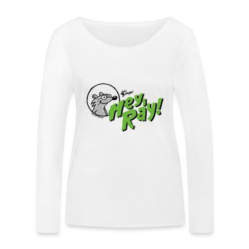 Hey Ray Logo green - Frauen Bio-Langarmshirt von Stanley & Stella