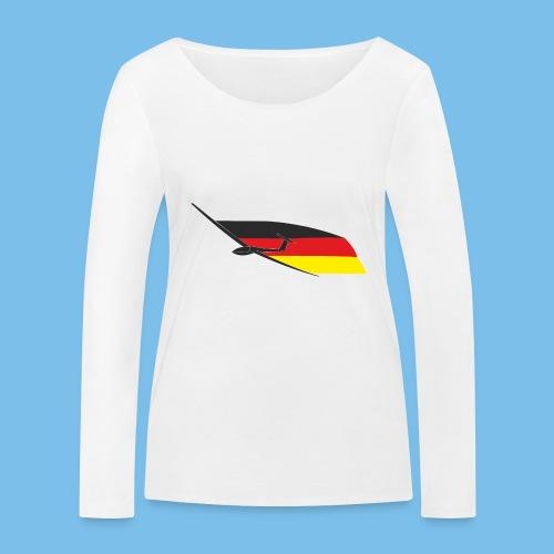 deutschlandflagge segelflugzeug Segelflieger - Frauen Bio-Langarmshirt von Stanley & Stella