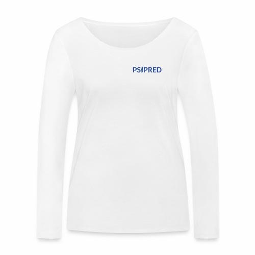 Logo in blue - Women's Organic Longsleeve Shirt by Stanley & Stella