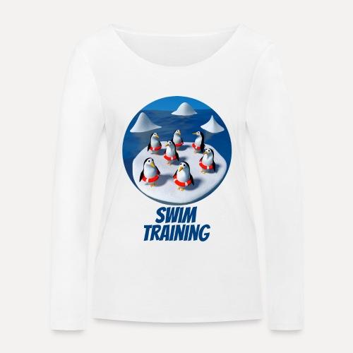Pinguine beim Schwimmunterricht - Women's Organic Longsleeve Shirt by Stanley & Stella