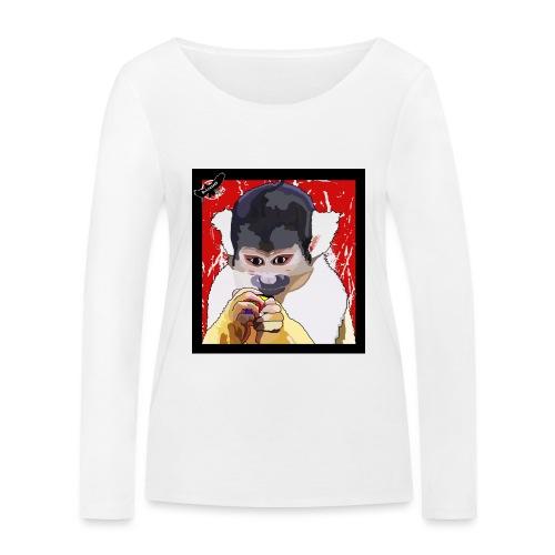 'Clever Monkey 2' by BlackenedMoonArts, w. logo - Økologisk Stanley & Stella langærmet T-shirt til damer