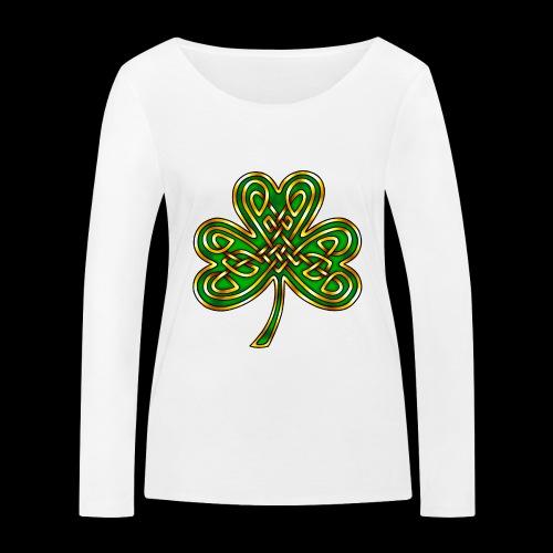 Celtic Knotwork Shamrock - Women's Organic Longsleeve Shirt by Stanley & Stella