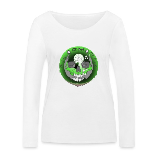 Rigormortiz Metallic Green Design - Women's Organic Longsleeve Shirt by Stanley & Stella