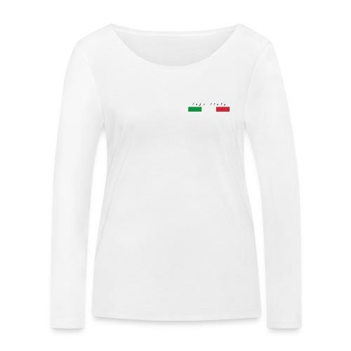 Info Italy Design - Maglietta a manica lunga ecologica da donna di Stanley & Stella