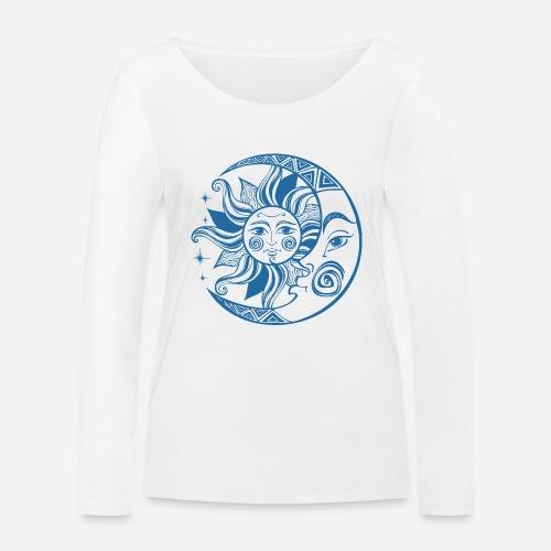 Sonnenmond Astrologie - Frauen Bio-Langarmshirt von Stanley & Stella
