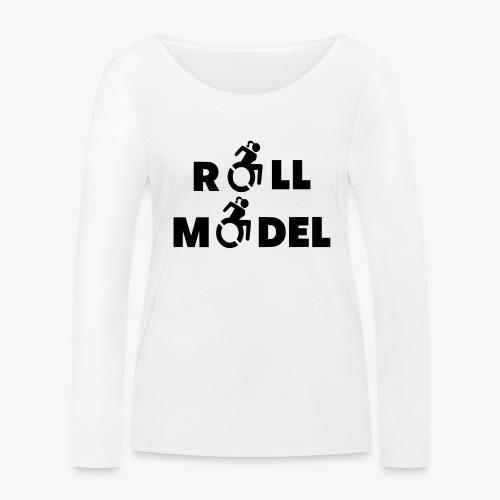 Dame in rolstoel is ook een roll model - Vrouwen bio shirt met lange mouwen van Stanley & Stella