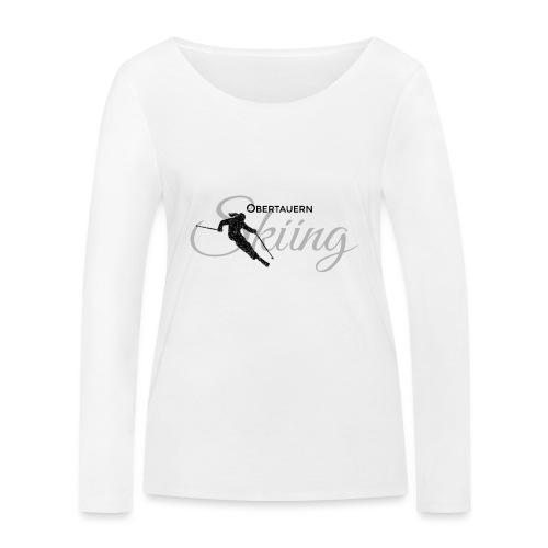 Obertauern Skiing (Grau) Apres-Ski Skifahrerin - Frauen Bio-Langarmshirt von Stanley & Stella