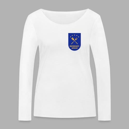 EU Bratenschutz-Aufsicht Dienstabzeichen blau - Frauen Bio-Langarmshirt von Stanley & Stella