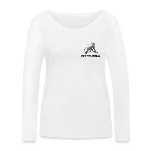 Survival Fitness Logo Schwarz - Frauen Bio-Langarmshirt von Stanley & Stella