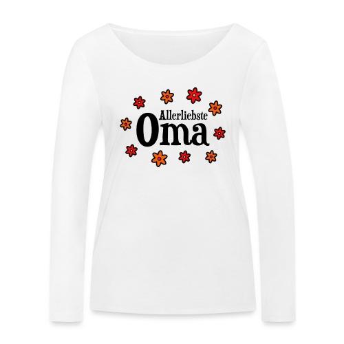 Allerliebste Oma Blumen Geschenk - Frauen Bio-Langarmshirt von Stanley & Stella