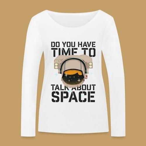 Time for Space - Ekologiczna koszulka damska z długim rękawem Stanley & Stella