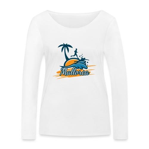 Joggen auf Mallorca - Sport - sportlich - Jogging - Frauen Bio-Langarmshirt von Stanley & Stella