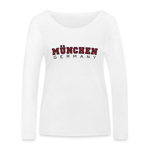 München Germany (Schwarz/Weiß) Deutschland - Frauen Bio-Langarmshirt von Stanley & Stella