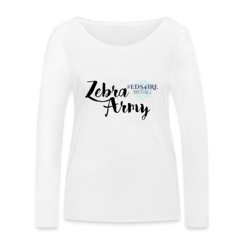 Zebra Army (black) - Women's Organic Longsleeve Shirt by Stanley & Stella