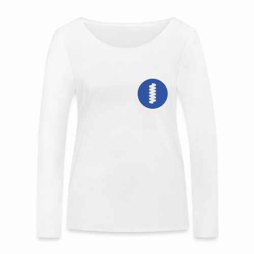 logomark in circular blue - Women's Organic Longsleeve Shirt by Stanley & Stella