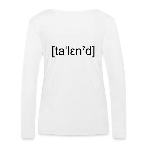 Talent - Økologisk Stanley & Stella langærmet T-shirt til damer