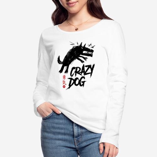 verrückter verrückter Hund - Frauen Bio-Langarmshirt von Stanley & Stella