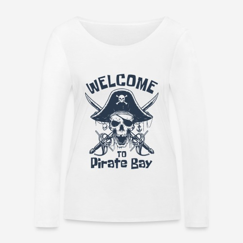 Piratenbucht Seemann - Frauen Bio-Langarmshirt von Stanley & Stella