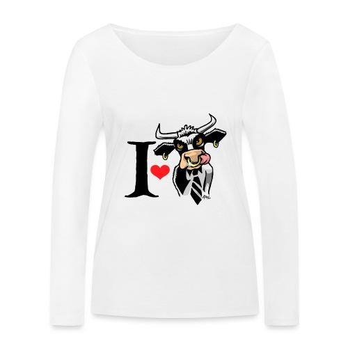 i_love_stier2 - Vrouwen bio shirt met lange mouwen van Stanley & Stella