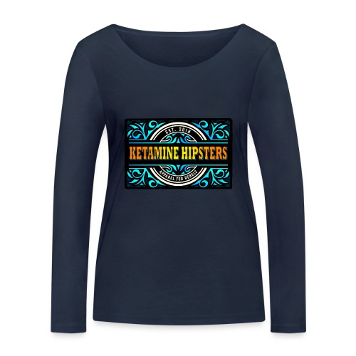 Black Vintage - KETAMINE HIPSTERS Apparel - Women's Organic Longsleeve Shirt by Stanley & Stella
