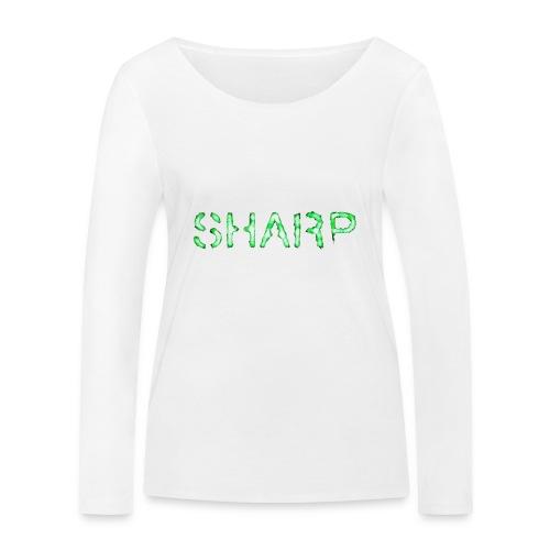 Sharp Clan black hoodie - Women's Organic Longsleeve Shirt by Stanley & Stella