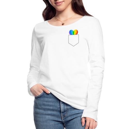Hjerte LGBTQ - Økologisk Stanley & Stella langærmet T-shirt til damer