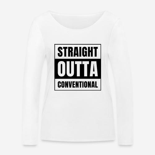 straight outta konventionell - Frauen Bio-Langarmshirt von Stanley & Stella