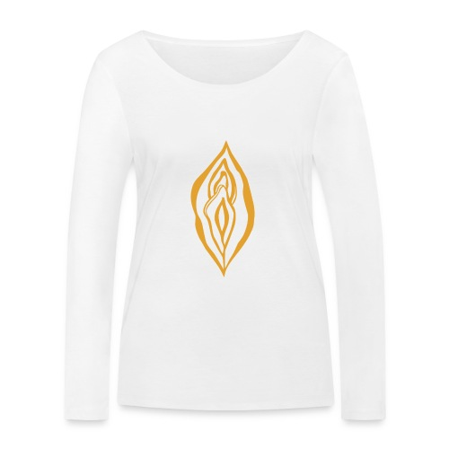 Yoni Magic Gold Queen Female Power Pussy Power - Women's Organic Longsleeve Shirt by Stanley & Stella