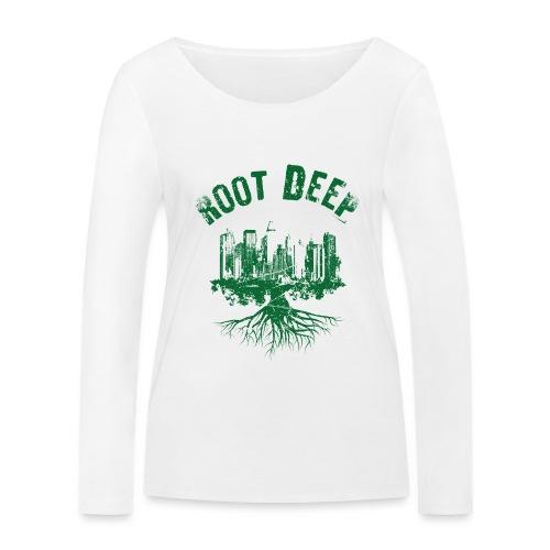 Root deep Urban grün - Frauen Bio-Langarmshirt von Stanley & Stella