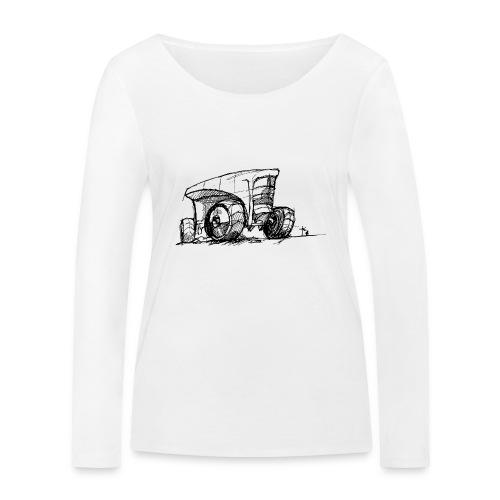 Futuristic design tractor - Women's Organic Longsleeve Shirt by Stanley & Stella