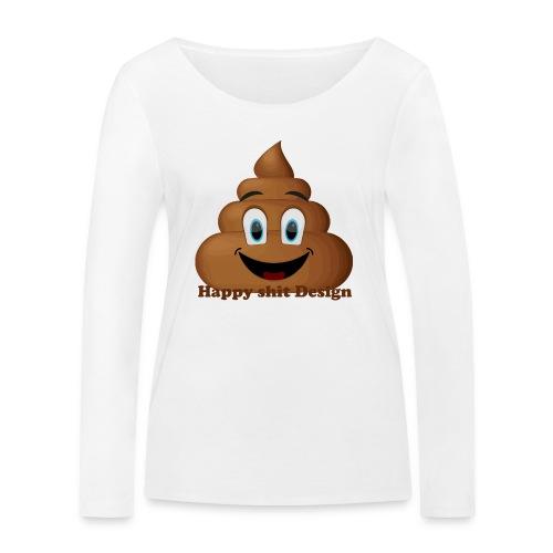 Happy Shit - Økologisk Stanley & Stella langærmet T-shirt til damer