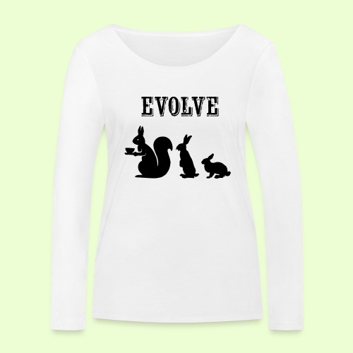 EvolveBunny - Vrouwen bio shirt met lange mouwen van Stanley & Stella