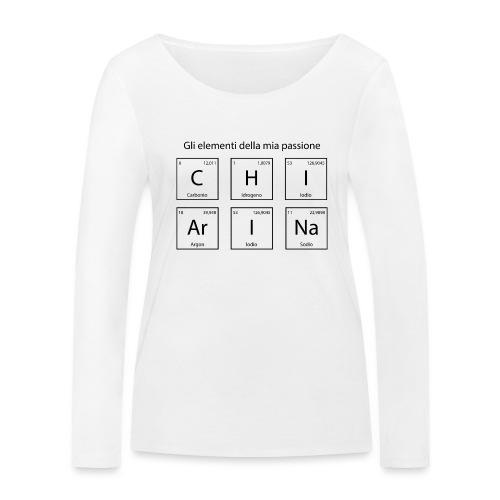 elementi chimici chiarina - Maglietta a manica lunga ecologica da donna di Stanley & Stella