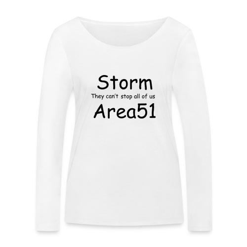 Storm Area 51 - Women's Organic Longsleeve Shirt by Stanley & Stella