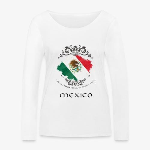 Mexico Vintage Bandera - Frauen Bio-Langarmshirt von Stanley & Stella