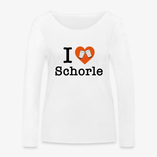 I love Schorle – Dubbeglas - Frauen Bio-Langarmshirt von Stanley & Stella