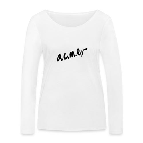 acmeproductionswhite - Frauen Bio-Langarmshirt von Stanley & Stella