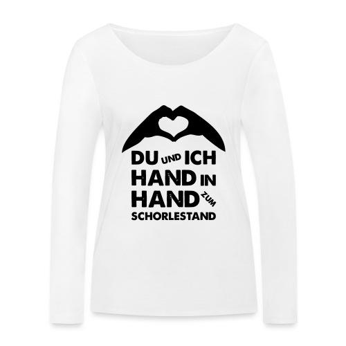 Hand in Hand zum Schorlestand / Gruppenshirt - Frauen Bio-Langarmshirt von Stanley & Stella