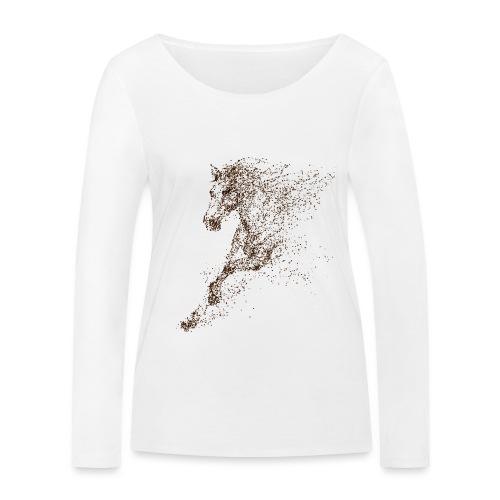 Vorschau: Pixel Horse brown - Frauen Bio-Langarmshirt von Stanley & Stella