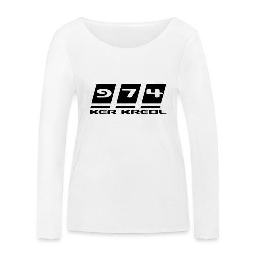 Ecriture 974 Ker Kreol - T-shirt manches longues bio Stanley & Stella Femme