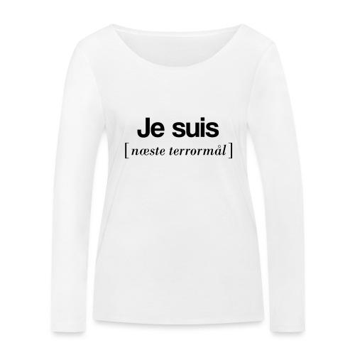 Je suis (sort skrift) - Økologisk Stanley & Stella langærmet T-shirt til damer